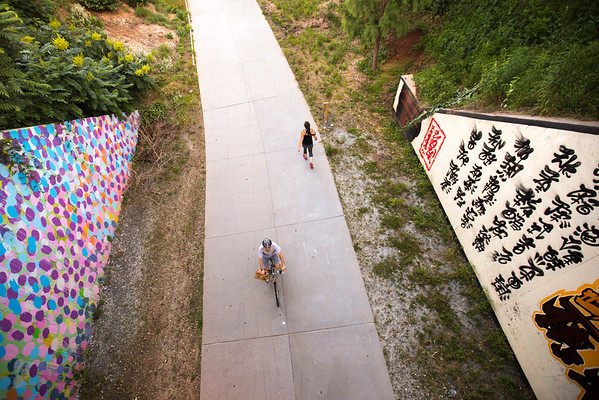 The Eastside Trail of the Beltline includes art, murals, sculpture, flora and fauna, wildflowers, bikers, walkers, runners and is well traveled.  (Jenni Girtman / info@atlantaeventphotography.com)