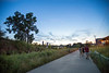 The Eastside Trail from the North Avenue bridge to Piedmont Park in the evening and at dark.  The path is traveled well into the night.  (Jenni Girtman / info@atlantaeventphotography.com)
