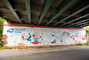 The Eastside Trail of the Beltline from Irwin Street north and over the Freedom Park Trail and into downtown. Airline Street mural in the Historic Fourth Ward under Edgewood Avenue. (Jenni Girtman/ info@atlantaeventphotography.com)