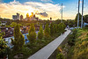 Looking north from the Virginia Avenue bridge, the Beltline crosses Monroe Drive and enters Piedmont Park.  Kanuga St. runs parallel to the Beltline here and behind the Midtown Connection shopping center. (Jenni Girtman / info@atlantaeventphotography.com)
