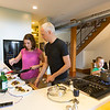 At home with Ryan Gravel, Karen Gravel, their children Lucia Gravel, 10, and Jonas Gravel, 7.  The Gravel family is in their second Beltine home where Gravel has started his own Sixpitch planning and design firm.  After dinner with we walk the Beltline for King of Pops popsicles.  <br /> <br /> (Jenni Girtman/ info@atlantaeventphotography.com)
