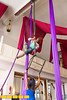 Fareedah Aleem teaches students basic aerial skills and trapeze for D'air Project.  D'air Project is a 501c3 non-profit company of professional dancers aiming to enrich the community and foster positive youth development through dance and art education.