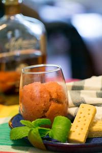 Fresh peach sorbet.  (Jenni Girtman / Atlanta Event Photography)