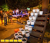 The Atlanta Metal Arts organization is at Castelberry Hill's Elliott Street Pub for a monthly iron pour.  Participants are invited to etch their own scratch blocks in iron before the molten metal is poured to make personal art and sculpture.  (Jenni Girtman / Atlanta Event Photography)