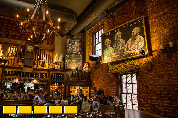 The Brick Store Pub in Decatur Square always offers an off-menu Irish coffee by request, normally the whisky drink is only on the menu on St. Patrick's Day. (Jenni Girtman / Atlanta Event Photography)