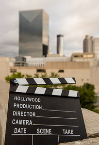 """***The concept is for Y'allywood cover. *** the graphic HO need's to be photoshopped to Y'A BEFORE usage**The movie industry in Atlanta is exploding with filming of major blockbuster film, series like """"The Walking Dead"""" and film studios are growing in the area.  (Jenni Girtman / Atlanta Event Photography)"""