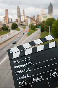"***The concept is for Y'allywood cover. *** the graphic HO need's to be photoshopped to Y'A BEFORE usage**The movie industry in Atlanta is exploding with filming of major blockbuster film, series like ""The Walking Dead"" and film studios are growing in the area.  (Jenni Girtman / Atlanta Event Photography)"