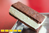 Bite story on Mint Chocolate Chip ice cream sandwich from Atomic Ice Cream Sandwich of Atlanta