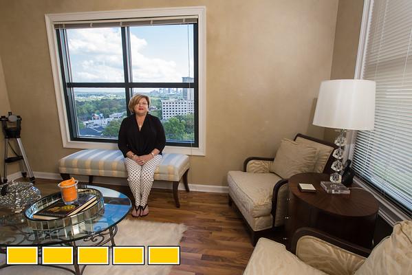 Jan Baker in her 2nd home, a 2 bedroom condo in Buckhead.