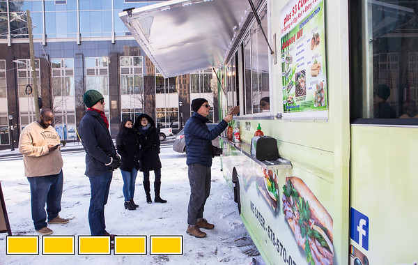 Food Truck Thursdays in Midtown at the corner of 12th and Peachtree is where 6 Pack Subs' owner Nam Nguyen serves Vietnamese banh mi, egg rolls, noodle bowls.  (Jenni Girtman / Atlanta Event Photography)