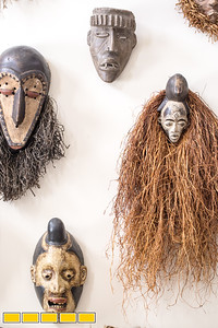 Jean-Patrick Guichard is a long-time collector of African art, he is at his Fairburn home, and plans a gallery opening in metro Atlanta in 2018.  On display at his home, Guichard only invests in masks that have been used in ceremony.  These were used for protection, to ward off evil spirits.  This is only a portion of the whole collection.  Guichard was born in New York and raised in West Africa and has pieces passed down from his mother as well as an expansive set of paintings, sculpture, ceremonial masks and artifacts he has secured through years of searching.  Many of the works are early works of now prolific and well known artists.  Guichard begins relationship at art school and art communities in Africa.  (Jenni Girtman / Atlanta Event Photography)