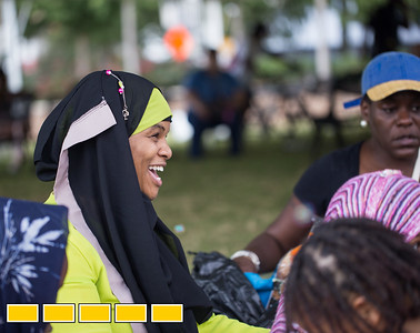 Hujrah Wahhaj participates in Art on the Beltline now that it extends to the Westside Trail.   The family-friendly, free events include traditional African dance lessons and performance, circus acts, live music and community empowerment opportunities are now available.  (Jenni Girtman / Atlanta Event Photography)