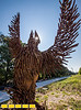 """The Westside Trail of the Beltline from Adair Park to Washington Park is now officially open.  The path has original sculpture, including Allen Peterson's """"Phoenix: Atlanta's Railroad Rebirth"""" made of railroad spikes and artifacts.  Built in 2013, the Phoenix now stands along Allene Ave near Adair Park. (Jenni Girtman / Atlanta Event Photography)"""