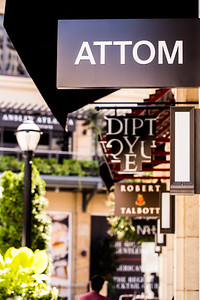 The Shops Buckhead Atlanta offers six blocks of luxury shopping near the intersection of Peachtree Street and West Paces Ferry Road.  Attom is a men's retail concept store based at Neuchatel in Switzerland.  (Jenni Girtman / Atlanta Event Photography)