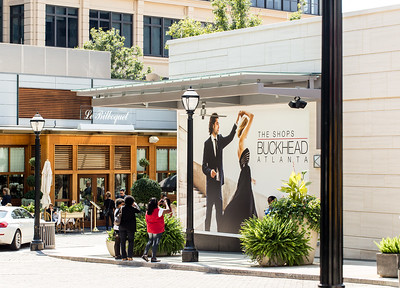 The Shops Buckhead Atlanta offers six blocks of luxury shopping near the intersection of Peachtree Street and West Paces Ferry Road.  The high-end retail includes  Hottie + Lord, Jimmy Choo, Cacao chocolate boutique and many more.  (Jenni Girtman / Atlanta Event Photography)