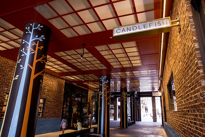 Ponce City Market is filled with shopping options including Candlefish, which offers hundreds of fragrant candles, workshops on how to make candles and unique accesories and gifts.  Shop are alongside coffee shops, indoor and outdoor dining and common areas for taking a break.  (Jenni Girtman / Atlanta Event Photography