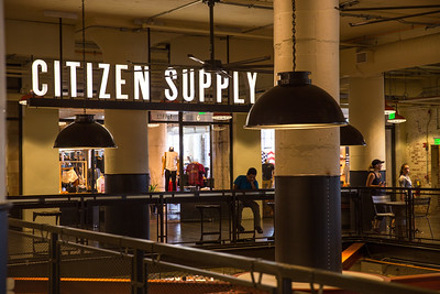 Ponce City Market is filled with shopping options including Citizen Supply, where a collection of small-batch artisan items are available for those shopping for gifts that are made sustainably.  Shop are alongside coffee shops, indoor and outdoor dining and common areas for taking a break.  (Jenni Girtman / Atlanta Event Photography