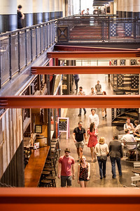 Ponce City Market is filled with shopping options including Rye 21, Candlefish, Citizen Supply, Anthropologie and dozens of other retailers.  Shop are alongside coffee shops, indoor and outdoor dining and common areas for taking a break.  (Jenni Girtman / Atlanta Event Photography