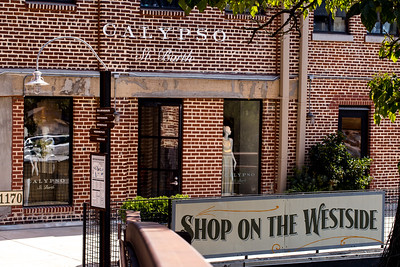 Westside Provisions District offers shopping on both side of Howell Mill Road.  The retail options in the area include Calypso St. Barth where women's apparel is rich with texture, color and embellishments. (Jenni Girtman / Atlanta Event Photography)