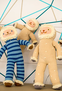 Blabla Kids has a store front and studio in Virgina Highlands.  Yeti dolls are new for the season and are purchased with portions of profit going toward environmental non-profits.  The hand-made, modern, knitted dolls are made of all-natural materials and are whimsical and cuddly.  Blabla sells wholesale to boutiques all over the world.  (Jenni Girtman / Atlanta Event Photography)