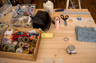 Blabla Kids' studio in Virgina Highlands is where the creations are designed and prototypes from Peru are reviewed and adjusted.  The hand-made, modern, knitted dolls are made of all-natural materials and are whimsical and cuddly.  Blabla sells wholesale to boutiques all over the world.  (Jenni Girtman / Atlanta Event Photography)
