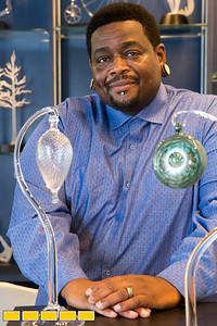 Patrick Randolph is an Army veteran and for,er police officer who blows glass at Frobel Glass in Midtown.