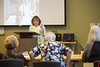 At the Central DeKalb Senior Center, one of the offerings for older adults is a French culture and language course. Instructor Elizabeth Wilson teaches the group about Joan of Arc and provides conversational language instruction.  (Jenni Girtman / Atlanta Event Photography)