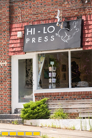 Hidden in Midtown on Charles Allen Drive, Hi-Lo Press is a few blocks west of Ponce City Market and is hope to a printmaking studio and art gallery.   Dianna Settles, the resident print maker, and Witt Wisebram started Hi-Lo Press in 2016 and offer lithography, design and letterpress.  (Jenni Girtman/ Atlanta Event Photography)