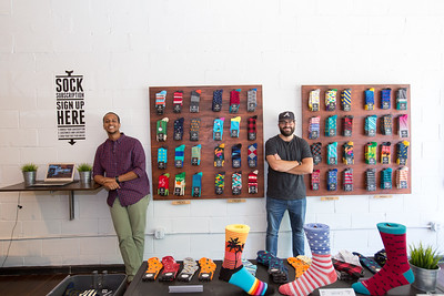 Childhood friends Stefan Lewinger and Futhum Tewolde own Sock Fancy in East Atlanta Village.  They began as a subscription-only service that sells funky men's socks.