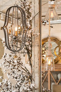 Dutchmans Designs in Chamblee has sister stores in St. Simons and Highlands, NC.  The solid wooden furniture is customized stylishly.  Lighting fixtures and options are mixed in with textured fabrics, sophisticated colors and quality design.  (Jenni Girtman / Atlanta Event Photography