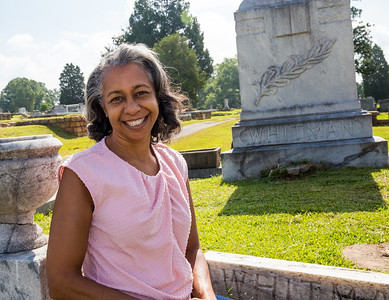 "South-View Cemetery, founded in 1886, is more than 100 acres south of downtown where race or religion never dictated who could be buried here.  Winifred ""Wini"" Watts Hemphill is at the Whitman sisters burial ground.  The four daughters of a slave turned pastor, became a successful vaudeville act in the early 1900s.  The troupe is unique as a women-owned, African-American production company that performed nationally and internationally.  Alberta 'Bert' often performed in drag with her sisters.  The Whitman Sisters would become the highest paid black act on the black vaudeville circuit.  (Jenni Girtman / Atlanta Event Photography)"