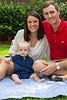 PGA golfer Brendon Todd, his wife Rachel and their 9 month old son Oliver at their home in Atlanta.  The pro golfer and UGA grad recently played the 144th Open Championship at the prestigious St. Andrews course in Scotland.