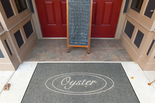 The Oyster Cast and Blast Inn is a simple, four bedroom, space, with a common room and a balcony overlooking Main St. in the heart of historic downtown Blue Ridge, Georgia.  It is located above the Oyster Fine Bamboo workshop and store front.  The inn, which is now available to the general public was originally intended for guests in town for bamboo fly fishing rod making classes taught by Bill Oyster.