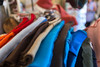Mary Sweeney scours thrift stores for felt pieces which she then cuts and re-designs into sophisticated clothing.  The designs seen here are for sale at Crafted Westside, Krog Street Market. (Jenni Girtman/Atlanta Event Photography)
