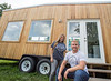 Atlanta's Tiny House movement is now on the Eastside Beltline ahead of the 3rd annual Decatur Tiny House Festival in Septemeber.  The offices of the project, a tiny house of course, is now at Irwin Street where Will Johnston Executive Director and CFO Kim Bucciero work to encourge microliving, promote vendors like Tesla and educate the public on tiny-size living.  (Jenni Girtman / Atlanta Event Photography)