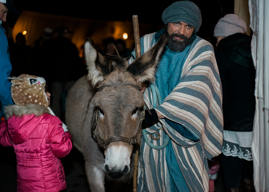 . Our Savior Lutheran Church in Westminster put on their annual Living Nativity event on Saturday, December 2, 2017. The public was invited to walk through a recreation of Bethlehem the night Jesus was born. SENTINEL & ENTERPRISE / Ashley Green