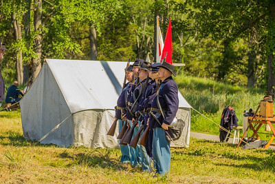 Living history event at the Fortress Rosecrans Encampment in the Stones River National Battlefield 6-10-17