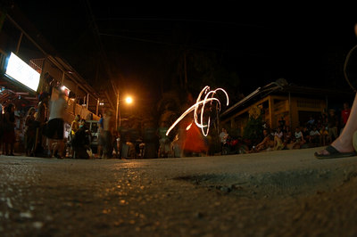Montezuma - Drum band and fire slingers