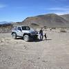 Jamie & Izzy at TeaKettle Junction in Death Valley.