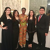 Lowell High School Students, Left, Luaishca Leon, Yulissa Rivera, Teresa Boateng, Laura Rodriguez, National Honor Society Student Andre Ragle all of Lowell