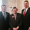 Left, City Councilor Corey Belanger of Lowell, CEO William Garr of Walpole, Sheriff Peter Koutoujian