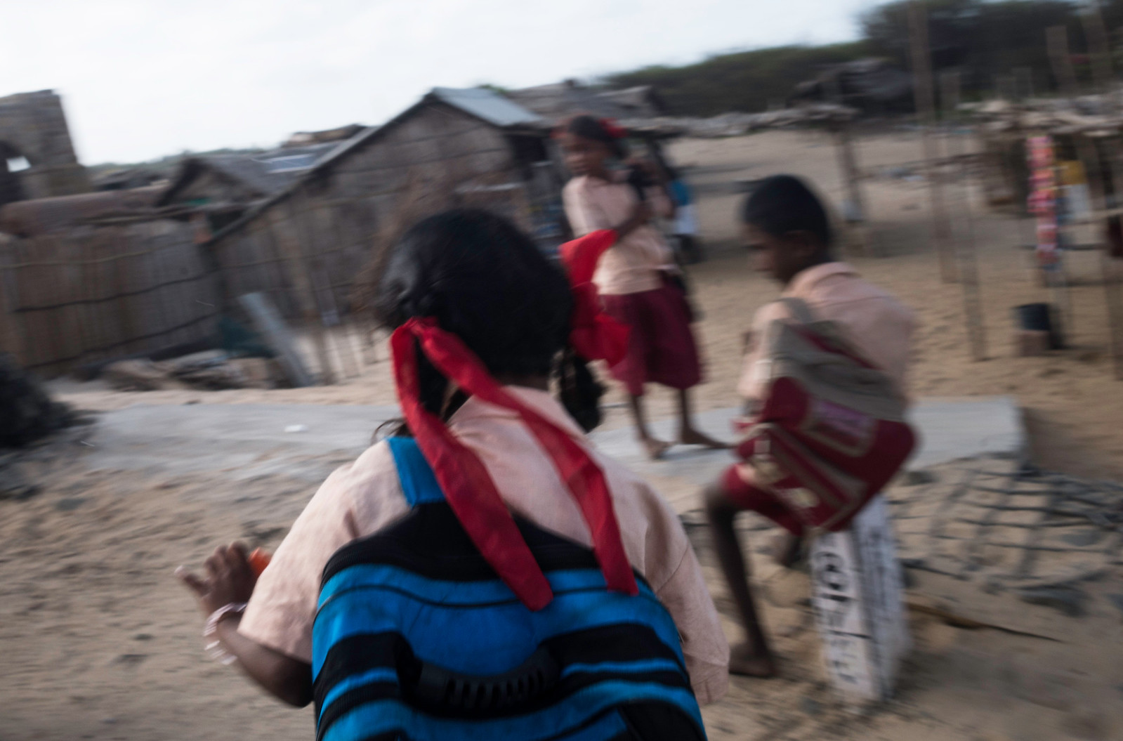 The village has two primary schools but no secondary school. Children often drop school after class 8th