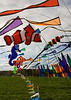 "Flags decorate the entrance to the annual balloon festival at Long Branch Farm, Winchester, Virginia, USA.  © RickCollier.com<br /> <br /> <br /> <br /> <br /> <br /> ""balloon festival""; USA; Virginia; Winchester; ""Long Branch""; ""Long Branch Farm""; field; grass; flag; flags; wind; breeze;"
