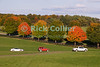 "A row of cars waits to leave the site at the end of the day at the annual Winchester Balloon Festival.  Long Branch Farm, Winchester, Virginia, USA.  © RickCollier.com<br /> <br /> <br /> <br /> <br /> <br /> ""balloon festival""; USA; Virginia; Winchester; ""Long Branch""; ""Long Branch Farm""; car; cars; line; tree; trees; fall; autumn; color; ""autumn color"";"
