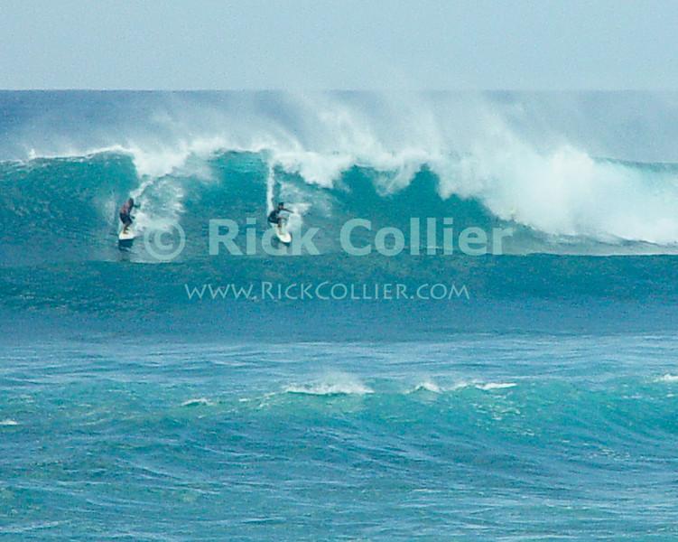 Surfers enjoy the winter waves.  North Shore, Oahu, Hawaii.  © Rick Collier<br /> <br /> <br /> <br /> <br /> <br /> <br /> <br /> Hawaii Hawai'i Oahu North Shore beach surf waves ocean sea seashore surfer surfers surfing breakers