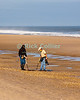 Modern-day treasure hunters scour Bethany Beach, Delaware, in the wake of a nor'easter in November 2009.