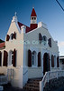 Saba - The local church in Windwardside is of typical Saban or traditional European style.  Its simple styling and color was particularly striking in the light of a Caribbean sunset.  © Rick Collier