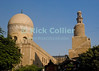 "The dome and minaret of the Mosque of ibn Tulun are visible from a nearby street in old Cairo, Egypt.  According to the tour guides, this is one of only two so-called ""stepped minarets"" in the Arab world.  The other is the great minaret at Samarra, Iraq.  © Rick Collier<br /> <br /> <br /> <br /> <br /> <br /> <br /> Egypt Egyptian Cairo tourist tourism history historic antiquities 'ancient Egypt' ancient antiquity mosque Tulun minaret 'stepped minaret' dome"