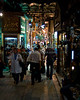 "Khan el-Khalili bazaar, Cairo, Egypt -- The famous Khan el-Khalili bazaar, spread like a warren over several blocks in downtown Cairo, is lit, crowded, and eagerly serving locals and tourists alike until late at night, nearly every night. © Rick Collier / RickCollier.com<br /> <br /> <br /> <br /> <br /> travel; vacation; destination; Egypt; Cairo; night; Khan; ""Khan el-Khalili""; bazaar; market; marketplace; lights; shops; stalls; vendors;"