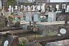 Saba - The cemetary at Windwardside illustrates the history and clashing European cultural values on this small island.  © Rick Collier